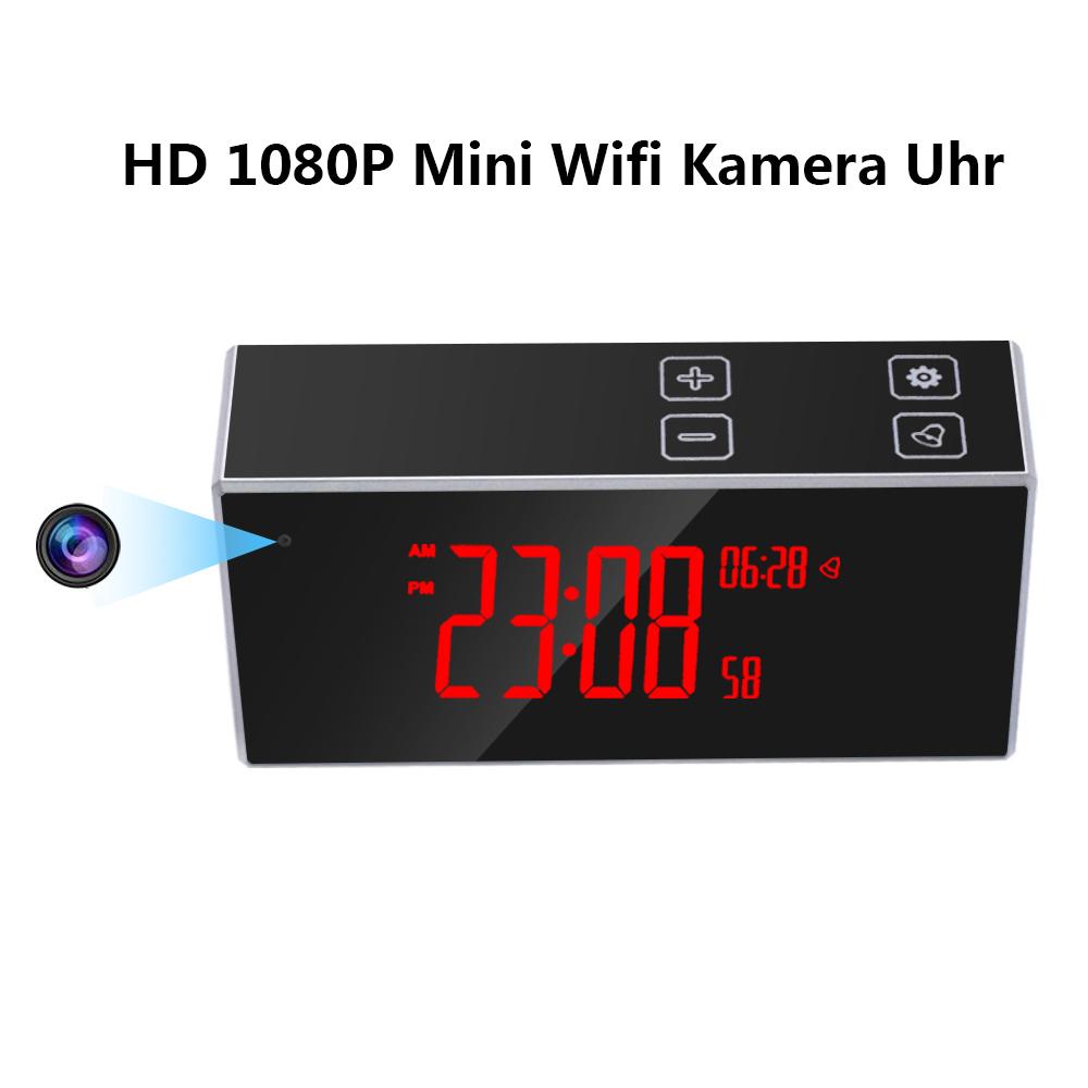 1080 Spion Kamera Wifi Mini Bewegungsmelder Versteckte Uhr Überwachungskamera